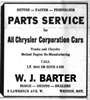 Barter Motors, Ad, Jan 4, 1951